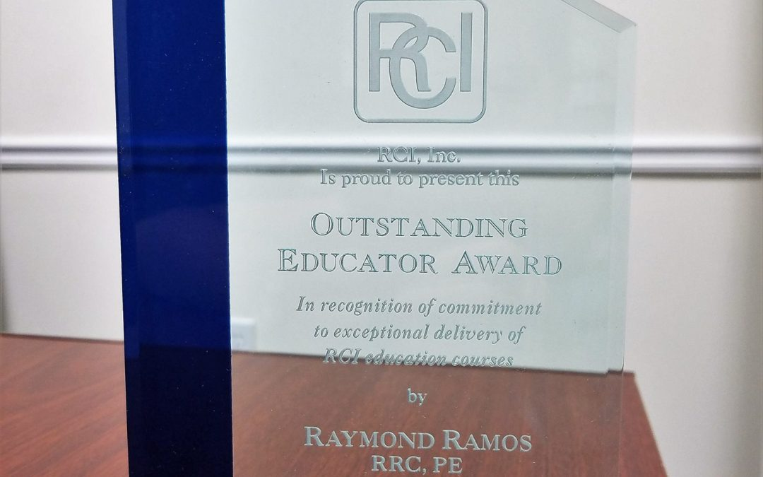 Ray Ramos recognized as an Outstanding Educator for RCI